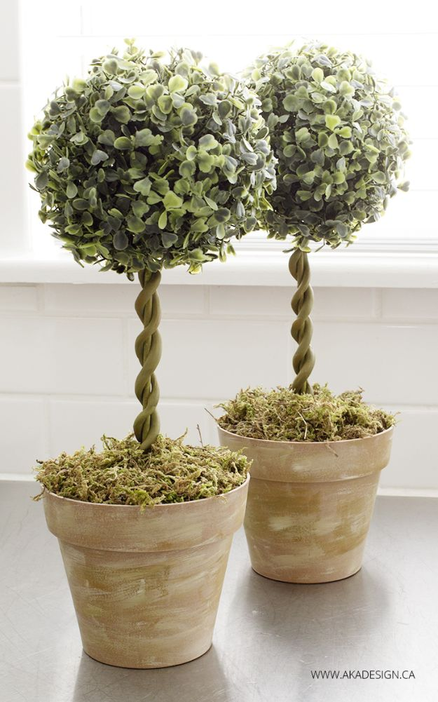 Dollar Tree Crafts - DIY Topiary Trees from Dollar Store - DIY Ideas and Crafts Projects From Dollar Tree Stores - Easy Organizing Project Tutorials and Home Decorations- Cheap Crafts to Make and Sell - Organization, Summer Parties, Christmas and Wedding Decor on A Budget - Fun Crafts for Kids and Teens from Dollar Store Items #dollarstore #dollartree #dollarstorecrafts #cheapcrafts #crafts #diy #diyideas http://diyjoy.com/dollar-tree-crafts