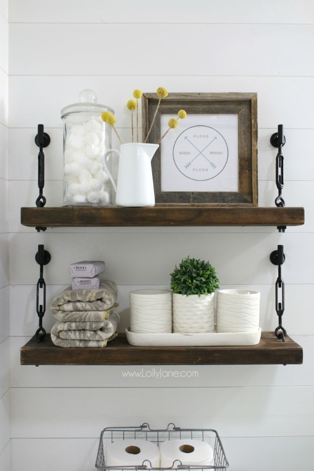 DIY Industrial Decor - DIY Turnbuckle Shelf - Industrail Shelves, Furniture, Table, Desk, Cart, Headboard, Chandelier, Bookcase - Easy Pipe Shelf Tutorial - Rustic Farmhouse Home Decor on A Budget - Lighting Ideas for Bedroom, Bathroom and Kitchen http://diyjoy.com/diy-industrial-decor