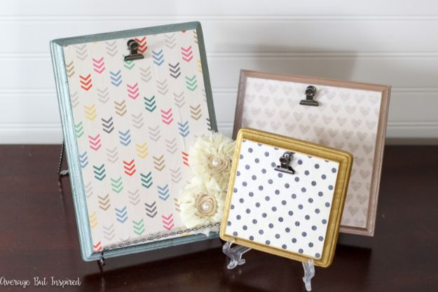 Cheap DIY Gift Ideas - DIY Wood Plaque Picture Frames - List of Handmade Gifts on A Budget and Inexpensive Christmas Presents - Do It Yourself Gift Idea for Family and Friends, Mom and Dad, For Guys and Women, Boyfriend, Girlfriend, BFF, Kids and Teens - Dollar Store and Dollar Tree Crafts, Home Decor, Room Accessories and Fun Things to Make At Home http://diyjoy.com/cheap-diy-gift-ideas