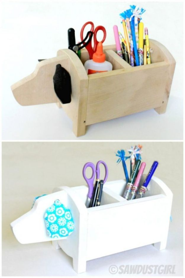 Cheap DIY Gift Ideas - Dog Shaped Storage Caddy - List of Handmade Gifts on A Budget and Inexpensive Christmas Presents - Do It Yourself Gift Idea for Family and Friends, Mom and Dad, For Guys and Women, Boyfriend, Girlfriend, BFF, Kids and Teens - Dollar Store and Dollar Tree Crafts, Home Decor, Room Accessories and Fun Things to Make At Home #diygifts #christmas #giftideas #diy