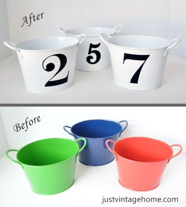 Dollar Tree Crafts - Dollar Tree Buckets to Chic Decor - DIY Ideas and Crafts Projects From Dollar Tree Stores - Easy Organizing Project Tutorials and Home Decorations- Cheap Crafts to Make and Sell #dollarstore #dollartree #dollarstorecrafts #cheapcrafts #crafts #diy #diyideas