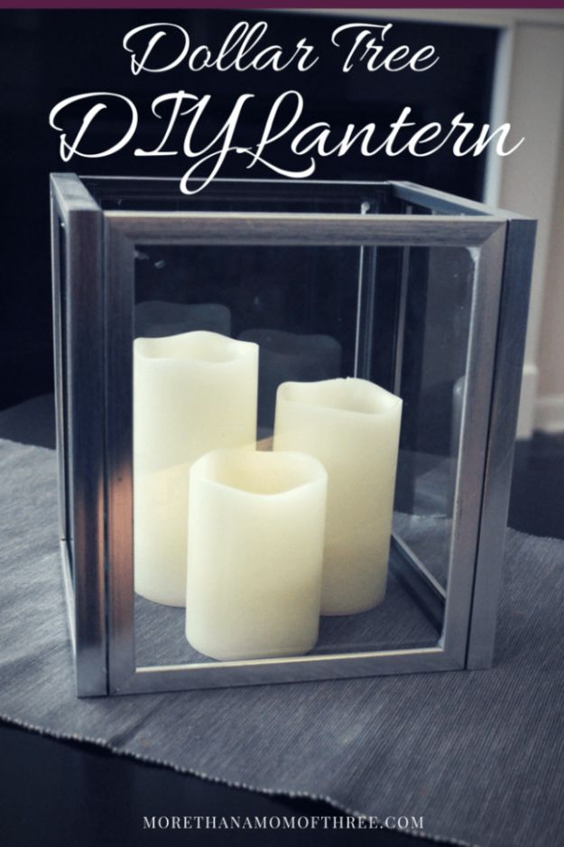Dollar Tree Crafts - Dollar Tree DIY Lantern - DIY Ideas and Crafts Projects From Dollar Tree Stores - Easy Organizing Project Tutorials and Home Decorations- Cheap Crafts to Make and Sell #dollarstore #dollartree #dollarstorecrafts #cheapcrafts #crafts #diy #diyideas