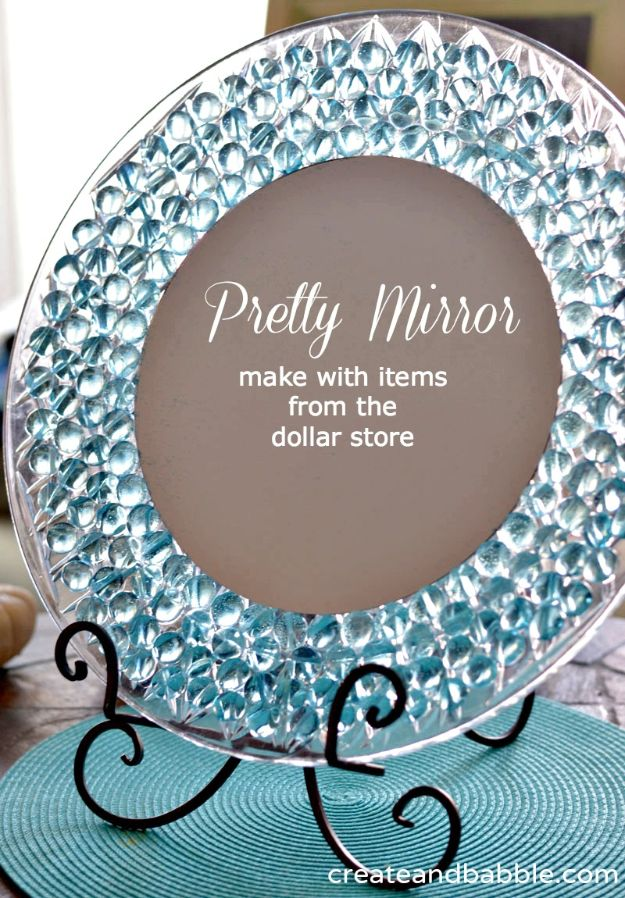 DIY Home Decor On A Budget - Dresser Mirror - Cheap Home Decorations to Make From The Dollar Store and Dollar Tree - Inexpensive Budget Friendly Wall Art, Furniture, Table Accents, Rugs, Pillows, Bedding and Chairs - Candles, Crafts To Make for Your Bedroom, Pretty Signs and Art, Linens, Storage and Organizing Ideas for Apartments #diydecor #decoratingideas #cheaphomedecor