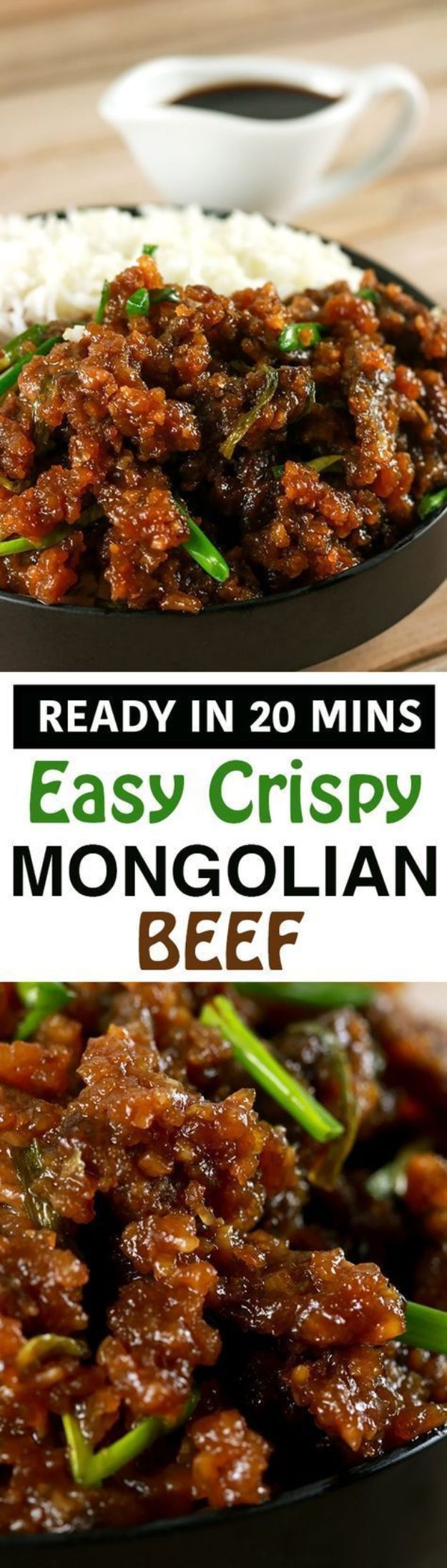 Easy Dinner Recipes - Easy Crispy Mongolian Beef - Quick and Simple Dinner Recipe Ideas for Weeknight and Last Minute Supper - Chicken, Ground Beef, Fish, Pasta, Healthy Salads, Low Fat and Vegetarian Dishes #easyrecipes #dinnerideas #recipes