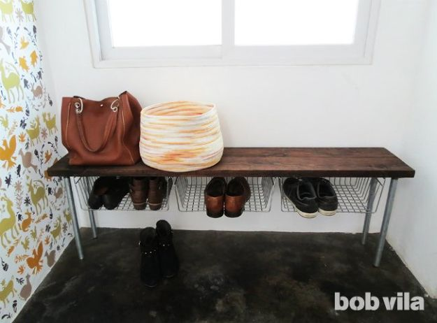 Organizing Ideas for Your Life - Easy Shoe Storage Bench - Easy Crafts and Cool Ideas for Getting Organized - Best Ways to Get Organized - Things to Make for Being More Efficient and Productive - DIY Storage, Shelving, Calendars, Planning #organizing