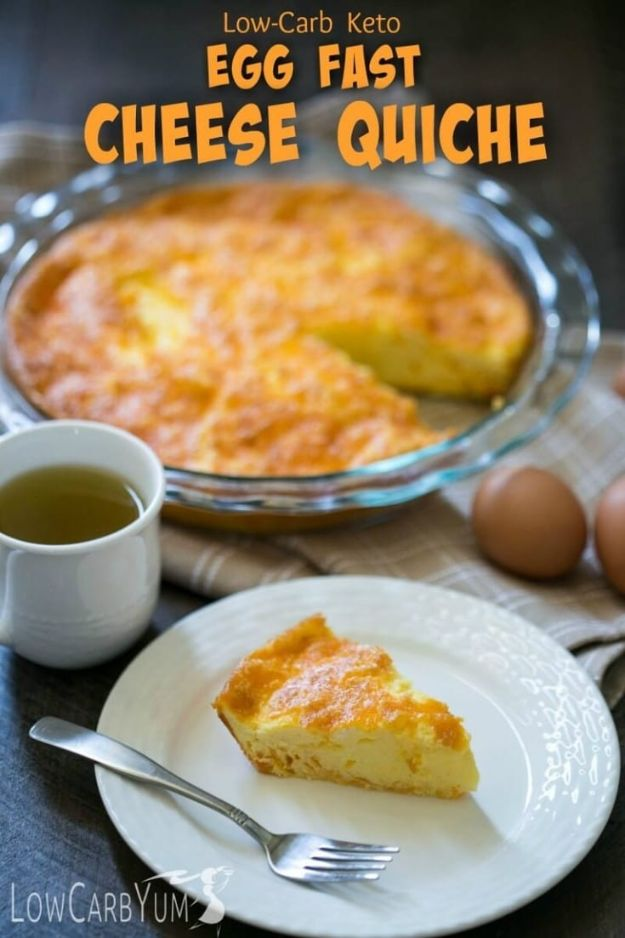 Keto Breakfast Recipes - Egg and Cheese Quiche - Low Carb Breakfasts and Morning Meals for the Ketogenic Diet - Low Carbohydrate Foods on the Go - Easy Crockpot Recipes and Casserole - Muffins and Pancakes, Shake and Smoothie, Ideas With No Eggs http://diyjoy.com/keto-breakfast-recipes