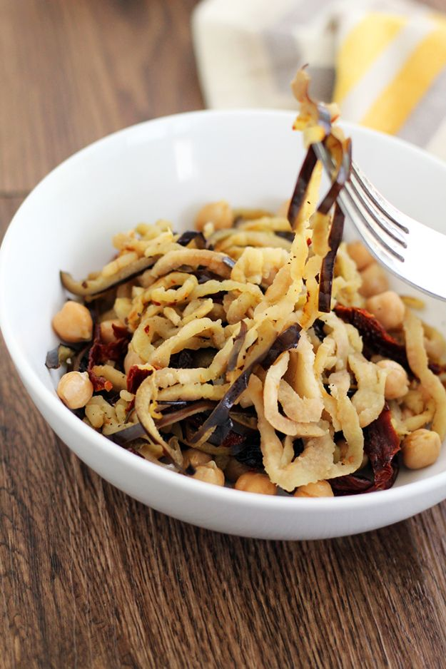Veggie Noodle Recipes - Eggplant Noodles - How to Cook With Veggie Noodles - Healthy Pasta Recipe Ideas - How to Make Veggie Noodles With Carrots and Zucchini - Vegan, Vegetarian , Keto and Low Carb Dishes for Your Diet - Meatballs, Chicken, Cheese, Asian Stir Fry, Salad and Raw Preparations #veggienoodles #recipes #keto #lowcarb #ketorecipes #veggies #healthyrecipes #veganrecipes