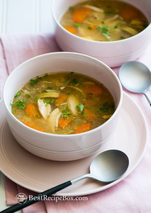 Soup Recipes - Favorite Slow Cooker Chicken Vegetable Soup - Healthy Soups and Recipe Ideas - Easy Slow Cooker Dishes, Soup Recipe for Chicken, Sausage, With Ground Beef, Potato, Vegetarian, Mexican and Asian Varieties - Creamy Soups for Winter and Fall - Low Carb and Keto Meals - Quick Bean Soup and Copycat Recipes #soup #recipes