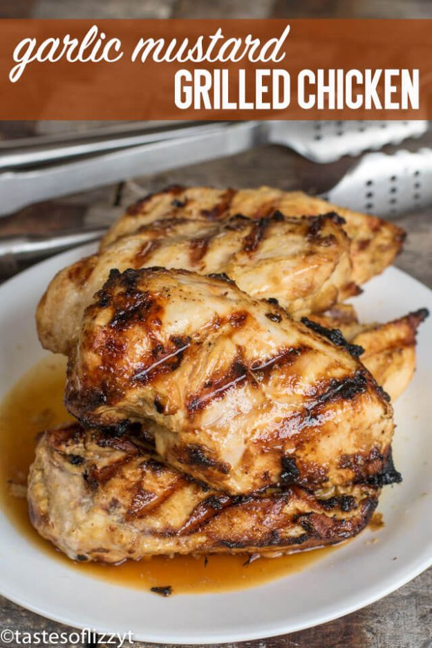 Easy Healthy Chicken Recipes - Garlic Mustard Chicken - Lunch and Dinner Ideas, Party Foods and Casseroles, Idea for the Grill and Salads- Chicken Breast, Baked, Roastedf and Grilled Chicken - Add Shrimp, Penne Pasta, Beef, Sausage - Glazed, Barbecue and Instant Pot, Crockpot Chicken Dishes and Recipe Ideas http://diyjoy.com/easy-healthy-chicken-recipes