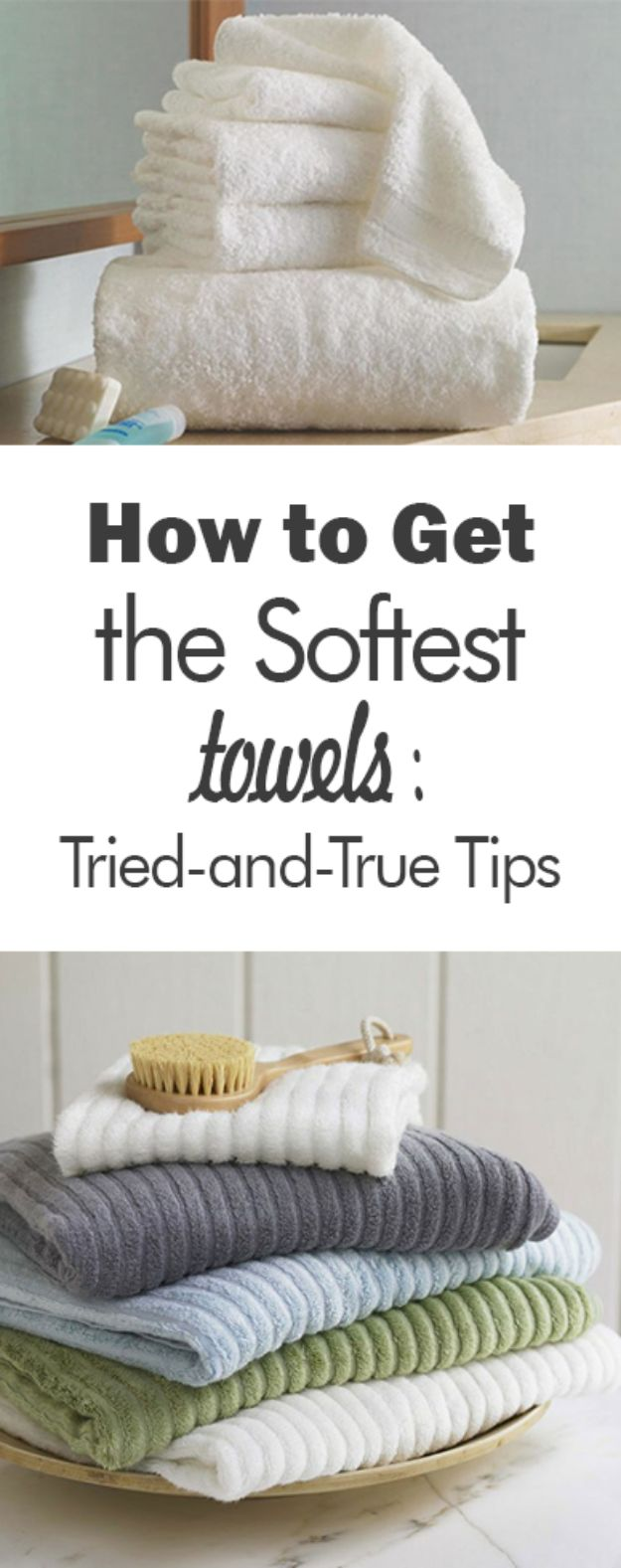 Laundry Hacks - Get the Softest Towels - Cool Tips for Busy Moms and Laundry Lifehacks - Laundry Room Organizing Ideas, Storage and Makeover - Folding, Drying, Cleaning and Stain Removal Tips for Clothes - How to Remove Stains, Paint, Ink and Smells - Whitening Tricks and Solutions - DIY Products and Recipes for Clothing Soaps http://diyjoy.com/laundry-hacks