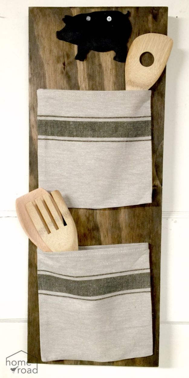 IKEA Hacks for Your Kitchen - Grain Sack Bag Organizer - DIY Furniture and Kitchen Accessories Made from IKEA - Kitchen Islands, Cabinets, Table, Pantry Organization, Storage, Shelves and Counter Solutions - Bar, Buffet and Entertaining Ideas - Easy Projects With Step by Step Tutorials and Instructions to Hack IKEA items #ikea #ikeahacks #diyhomedecor #diyideas #diykitchen