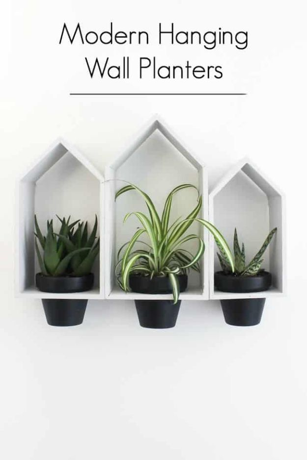 DIY Home Decor On A Budget - Hanging Wall Planters - Cheap Home Decorations to Make From The Dollar Store and Dollar Tree - Inexpensive Budget Friendly Wall Art, Furniture, Table Accents, Rugs, Pillows, Bedding and Chairs - Candles, Crafts To Make for Your Bedroom, Pretty Signs and Art, Linens, Storage and Organizing Ideas for Apartments #diydecor #decoratingideas #cheaphomedecor