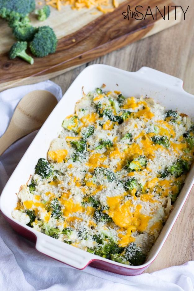 Best Casserole Recipes - Healthy Broccoli Chicken Casserole - Healthy One Pan Meals Made With Chicken, Hamburger, Potato, Pasta Noodles and Vegetable - Quick Casseroles Kids Like - Breakfast, Lunch and Dinner Options - Mexican, Italian and Homestyle Favorites - Party Foods for A Crowd and Potluck Dishes #recipes #casseroles