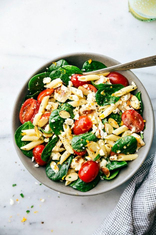 Easy Healthy Chicken Recipes - Healthy Chicken Pasta Salad - Lunch and Dinner Ideas, Party Foods and Casseroles, Idea for the Grill and Salads- Chicken Breast, Baked, Roastedf and Grilled Chicken #recipes #healthy #chicken