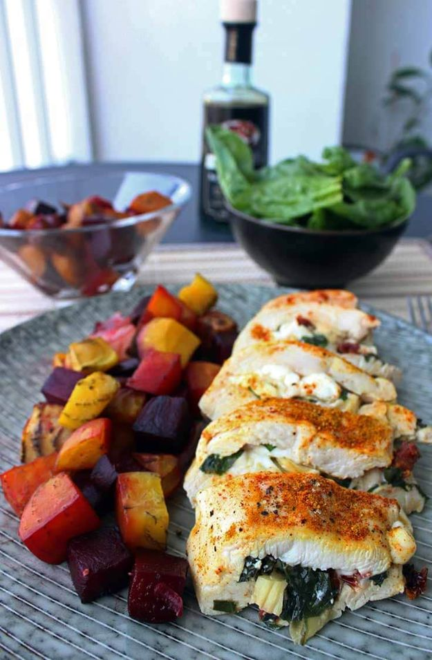 Easy Healthy Chicken Recipes - Healthy Stuffed Chicken Breast - Lunch and Dinner Ideas, Party Foods and Casseroles, Idea for the Grill and Salads- Chicken Breast, Baked, Roastedf and Grilled Chicken - Add Shrimp, Penne Pasta, Beef, Sausage - Glazed, Barbecue and Instant Pot, Crockpot Chicken Dishes and Recipe Ideas http://diyjoy.com/easy-healthy-chicken-recipes