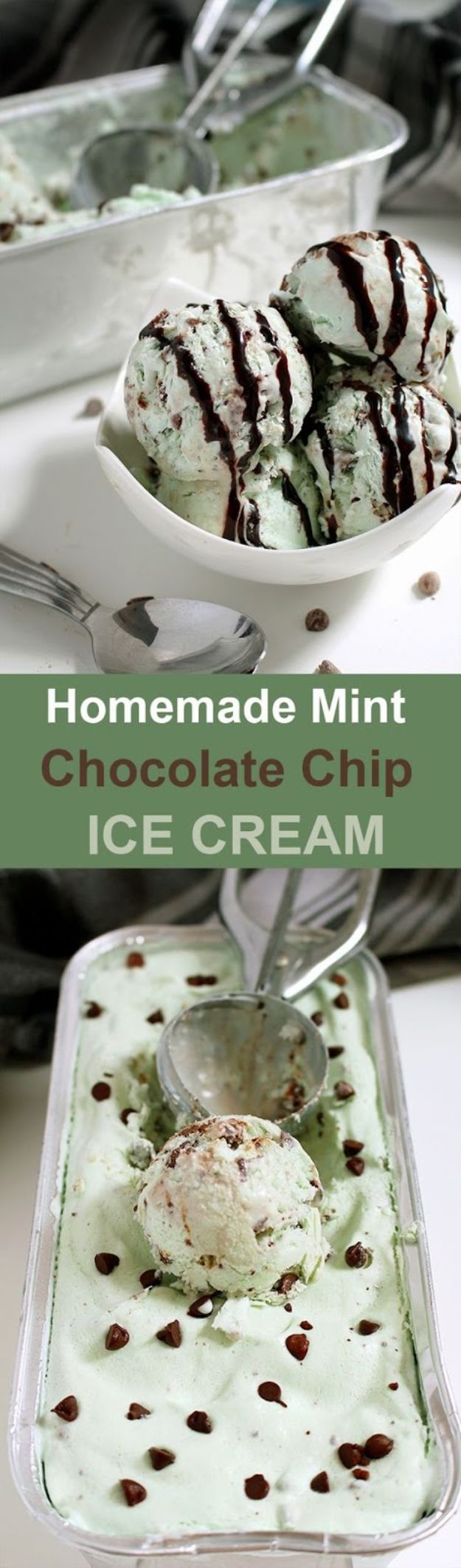 Chocolate Desserts and Recipe Ideas - Homemade Mint Chocolate Chip Ice Cream - Easy Chocolate Recipes With Mint, Peanut Butter and Caramel - Quick No Bake Dessert Idea, Healthy Desserts, Cake, Brownies, Pie and Mousse - Best Fancy Chocolates to Serve for Two, A Crowd, and Simple Snacks http://diyjoy.com/chocolate-dessert-recipes