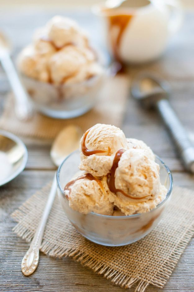 Homemade Ice Cream Recipes - Homemade Salted Caramel Ice Cream - How To Make Homemade Ice Cream At Home - Recipe Ideas for Making Vanilla, Chocolate, Strawberry, Caramel Ice Creams - Step by Step Tutorials for Easy Mixes and Dairy Free Options - Cuisinart and Ice Cream Machine, No Churn, Mix in A Bag and Mason Jar -