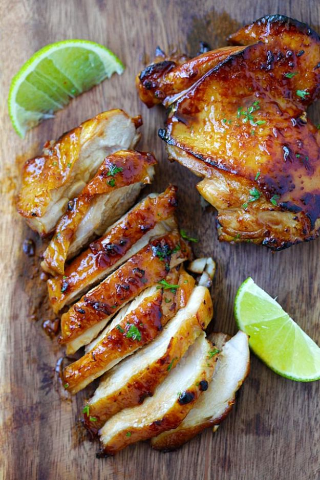 Chicken Breast Recipes - Honey Lime Chicken - Healthy, Easy Chicken Recipes for Dinner, Lunch, Parties and Quick Weeknight Meals - Boneless Chicken Breast Casserole Recipes, Oven Baked Ideas, Crockpot Chicken Breasts, Marinades for Grilled Foods, Salads, Shredded Chicken Tacos, Creamy Pasta, Keto and Low Carb, Mexican, Asian and Italian Food #chicken #recipes #healthy