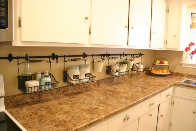 IKEA Hacks for Your Kitchen - IKEA Fintorp Rail Hack for Kitchen Counters - DIY Furniture and Kitchen Accessories Made from IKEA - Kitchen Islands, Cabinets, Table, Pantry Organization, Storage, Shelves and Counter Solutions - Bar, Buffet and Entertaining Ideas - Easy Projects With Step by Step Tutorials and Instructions to Hack IKEA items #ikea #ikeahacks #diyhomedecor #diyideas #diykitchen