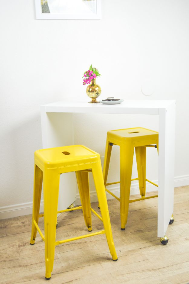 IKEA Hacks for Your Kitchen - IKEA Hack DIY Rolling Kitchen Island or Bar - DIY Furniture and Kitchen Accessories Made from IKEA - Kitchen Islands, Cabinets, Table, Pantry Organization, Storage, Shelves and Counter Solutions - Bar, Buffet and Entertaining Ideas - Easy Projects With Step by Step Tutorials and Instructions to Hack IKEA items #ikea #ikeahacks #diyhomedecor #diyideas #diykitchen
