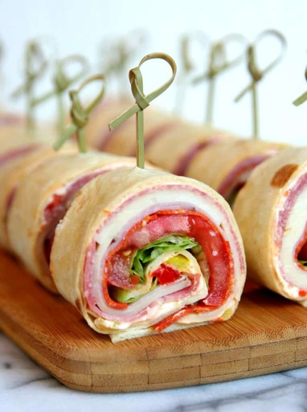 Best Italian Recipes - Italian Sandwich Roll-Ups - Authentic and Traditional italian dishes For Dinner, Appetizers, and Easy Lunch - Pasta with Chicken, Lasagna, Noodles With Cheese, Healthy Recipe Ideas - Party Trays and Food For A Crowd - Fettucini, Spaghetti, Alfredo Sauce, Meatballs, Grilled Steak and Fish, Soup, Seafood, Vegetarian and Crockpot Versions #italian