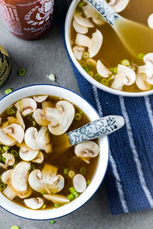 Soup Recipes - Japanese Clear Onion Soup - Healthy Soups and Recipe Ideas - Easy Slow Cooker Dishes, Soup Recipe for Chicken, Sausage, With Ground Beef, Potato, Vegetarian, Mexican and Asian Varieties - Creamy Soups for Winter and Fall - Low Carb and Keto Meals - Quick Bean Soup and Copycat Recipes #soup #recipes