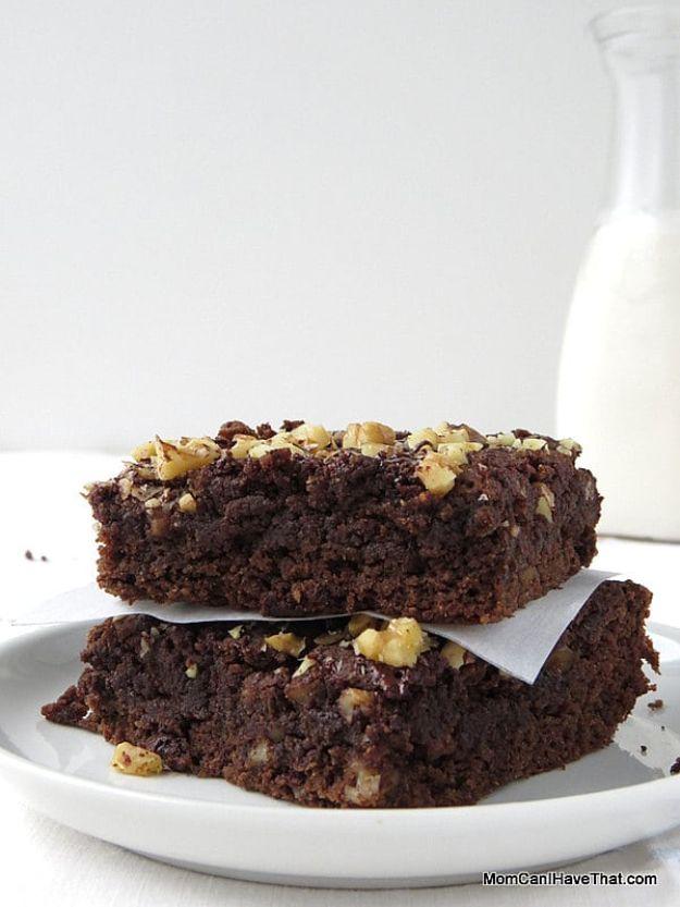 Keto Dessert Recipes - Keto Chocolate Banana Brownies - Easy Ketogenic Diet Dessert Recipes and Recipe Ideas - Shakes, Cakes In A Mug, Low Carb Brownies, Gluten Free Cookies #keto #ketorecipes #desserts