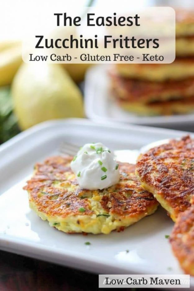 Keto Snacks - Keto Friendly Zucchini Fritters – Keto Friendly - Keto Snack Recipes and Easy Low Carb Foods for the Ketogenic Diet On the Go #keto #ketodiet #ketorecipes