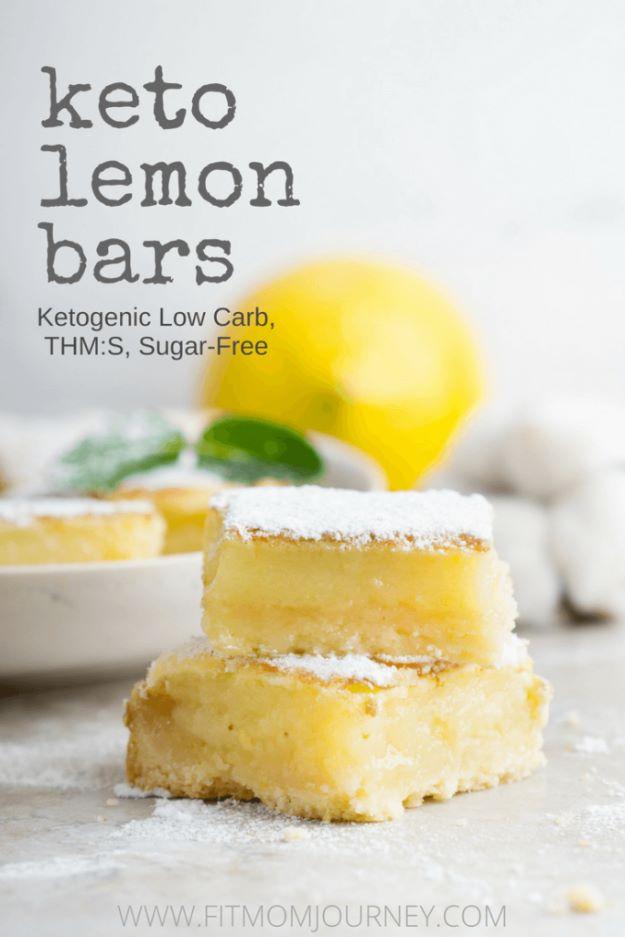 Keto Snacks - Keto Lemon Bars - Keto Snack Recipes and Easy Low Carb Foods for the Ketogenic Diet On the Go #keto #ketodiet #ketorecipes