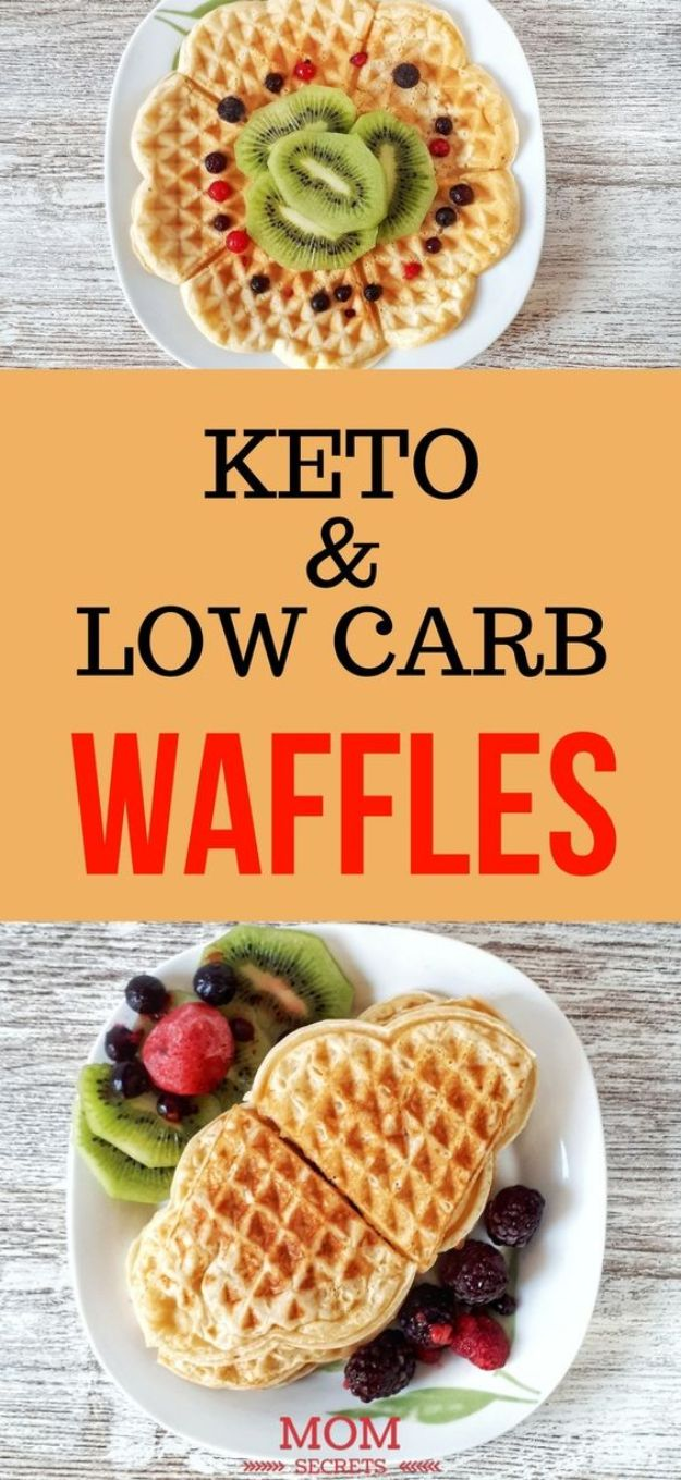 Keto Breakfast Recipes - Keto Waffles - Low Carb Breakfasts and Morning Meals for the Ketogenic Diet - Low Carbohydrate Foods on the Go - Easy Crockpot Recipes and Casserole - Muffins and Pancakes, Shake and Smoothie, Ideas With No Eggs #keto
