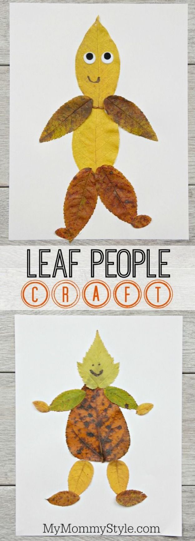 Fun Fall Crafts for Kids - Leaf People Craft - Cool Crafts Ideas for Kids to Make With Paper, Glue, Leaves, Corn Husk, Pumpkin and Glitter - Halloween and Thanksgiving - Children Love Making Art, Paintings, Cards and Fall Decor - Placemats, Place Cards, Wall Art , Party Food and Decorations for Toddlers, Boys and Girls http://diyjoy.com/fun-fall-crafts-kids