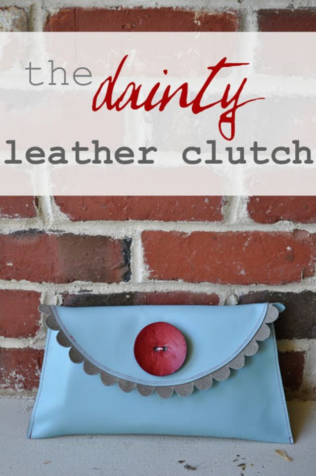 Cheap DIY Gift Ideas -Leather Clutch - List of Handmade Gifts on A Budget and Inexpensive Christmas Presents - Do It Yourself Gift Idea for Family and Friends, Mom and Dad, For Guys and Women, Boyfriend, Girlfriend, BFF, Kids and Teens - Dollar Store and Dollar Tree Crafts, Home Decor, Room Accessories and Fun Things to Make At Home http://diyjoy.com/cheap-diy-gift-ideas