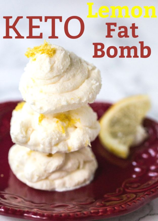 Keto Fat Bombs and Best Ketogenic Recipe Ideas to Make At Home - Lemon Fat Bombs - Easy Recipes With Peanut Butter, Cream Cheese, Chocolate, Coconut Oil, Coffee low carb fat bombs #keto #ketorecipes