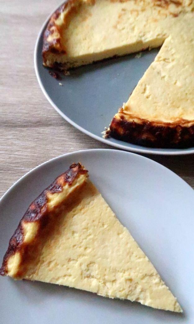Keto Dessert Recipes - Low Carb Lemon Ricotta Cake - Easy Ketogenic Diet Dessert Recipes and Recipe Ideas - Shakes, Cakes In A Mug, Low Carb Brownies, Gluten Free Cookies #keto #ketorecipes #desserts