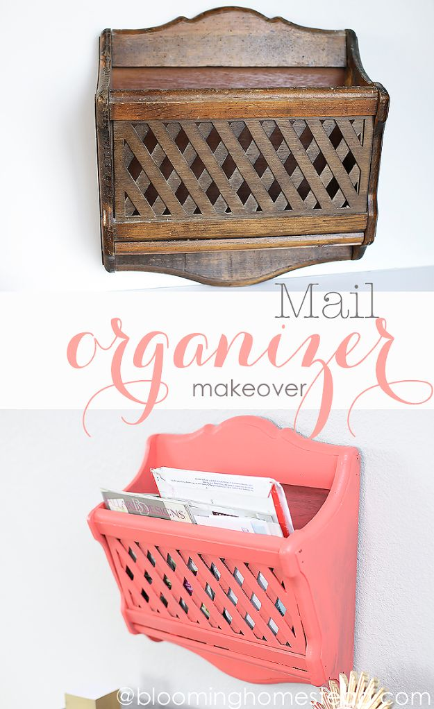 Thrift Store DIY Makeovers - Mail Organizer Makeover - Decor and Furniture With Upcycling Projects and Tutorials - Room Decor Ideas on A Budget - Crafts and Decor to Make and Sell - Before and After Photos - Farmhouse, Outdoor, Bedroom, Kitchen, Living Room and Dining Room Furniture http://diyjoy.com/thrift-store-makeovers