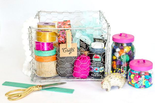 Organizing Ideas for Your Life - Make Wire Baskets - Easy Crafts and Cool Ideas for Getting Organized - Best Ways to Get Organized - Things to Make for Being More Efficient and Productive - DIY Storage, Shelving, Calendars, Planning #organizing