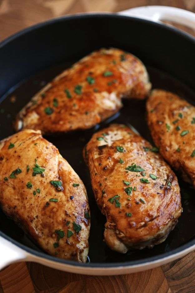Chicken Breast Recipes - Maple Balsamic and Herb Chicken - Easy Chicken Recipe for Dinner - Healthy Recipes With Chicken Breasts