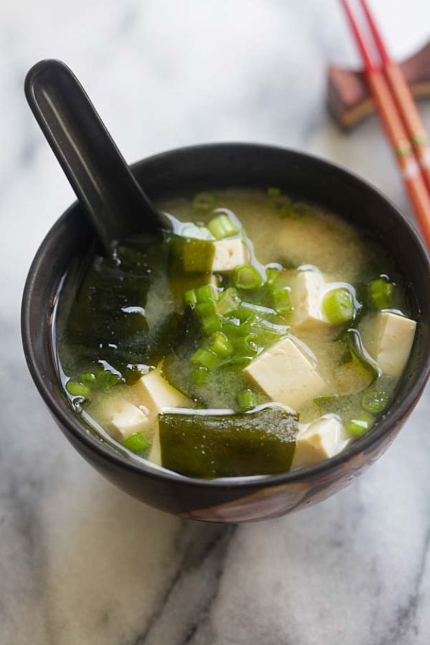 Soup Recipes - Miso Soup - Healthy Soups and Recipe Ideas - Easy Slow Cooker Dishes, Soup Recipe for Chicken, Sausage, With Ground Beef, Potato, Vegetarian, Mexican and Asian Varieties - Creamy Soups for Winter and Fall - Low Carb and Keto Meals - Quick Bean Soup and Copycat Recipes #soup #recipes