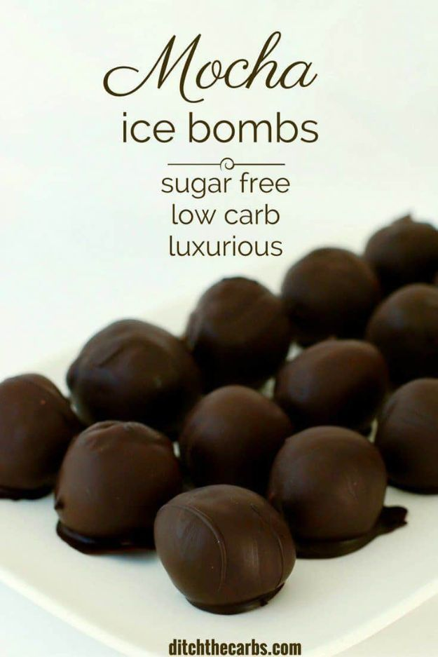 Keto Fat Bombs and Best Ketogenic Recipe Ideas to Make At Home - Mocha Ice Bombs - Easy Recipes With Peanut Butter, Cream Cheese, Chocolate, Coconut Oil, Coffee low carb fat bombs #keto #ketorecipes