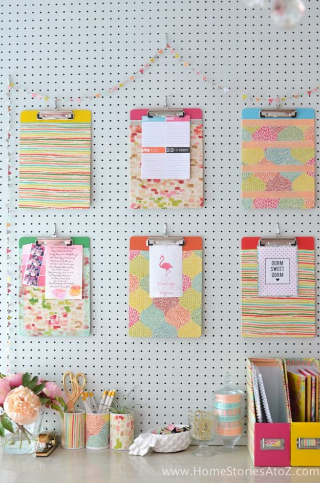 Organizing Ideas for Your Life - Mod Podge Clipboard - Easy Crafts and Cool Ideas for Getting Organized - Best Ways to Get Organized - Things to Make for Being More Efficient and Productive - DIY Storage, Shelving, Calendars, Planning #organizing