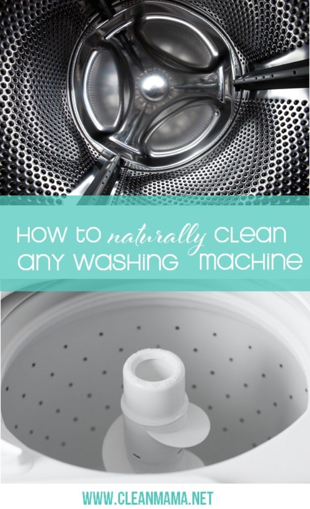 Laundry Hacks - Naturally Clean Any Washing Machine - Cool Tips for Busy Moms and Laundry Lifehacks - Laundry Room Organizing Ideas, Storage and Makeover - Folding, Drying, Cleaning and Stain Removal Tips for Clothes - How to Remove Stains, Paint, Ink and Smells - Whitening Tricks and Solutions - DIY Products and Recipes for Clothing Soaps http://diyjoy.com/laundry-hacks