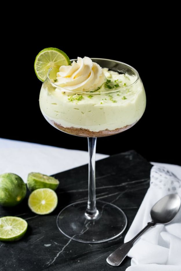 Keto Dessert Recipes - No-Bake Key Lime Cheesecake - Easy Ketogenic Diet Dessert Recipes and Recipe Ideas - Shakes, Cakes In A Mug, Low Carb Brownies, Gluten Free Cookies, Best Keto Chocolate Sweets, Fat Bombs, Cheesecake, No Bake and Dairy Free Ideas http://diyjoy.com/keto-dessert-recipes