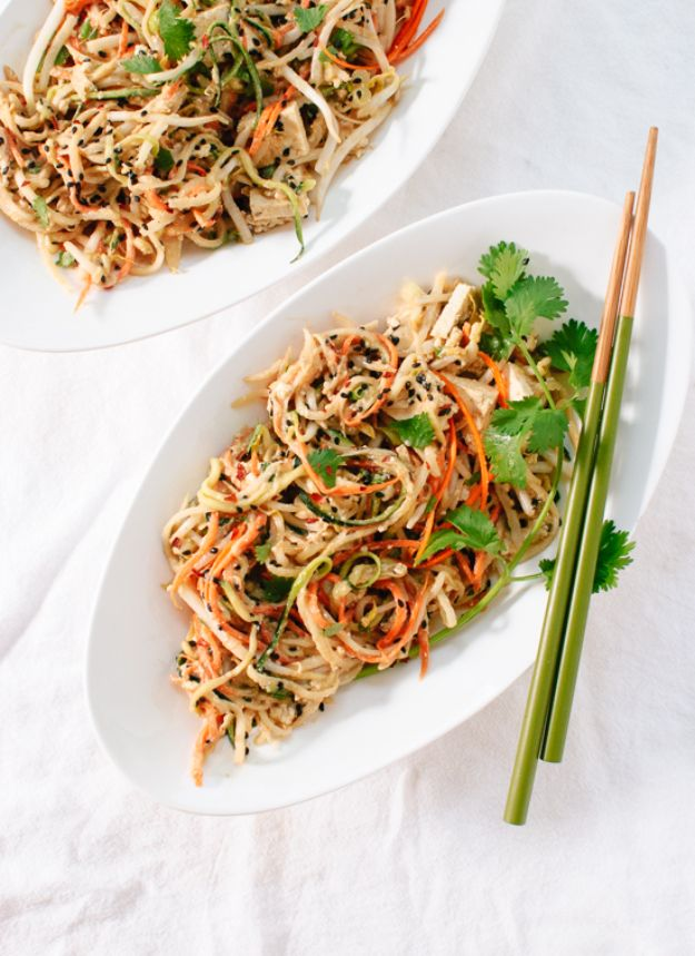 Veggie Noodle Recipes - No Noodle Pad Thai - How to Cook With Veggie Noodles - Healthy Pasta Recipe Ideas - How to Make Veggie Noodles With Carrots and Zucchini - Vegan, Vegetarian , Keto and Low Carb Dishes for Your Diet - Meatballs, Chicken, Cheese, Asian Stir Fry, Salad and Raw Preparations #veggienoodles #recipes #keto #lowcarb #ketorecipes #veggies #healthyrecipes #veganrecipes