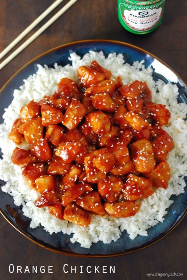 Easy Dinner Recipes - Orange Chicken 30 Minute Skillet - Quick and Simple Dinner Recipe Ideas for Weeknight and Last Minute Supper - Chicken, Ground Beef, Fish, Pasta, Healthy Salads, Low Fat and Vegetarian Dishes - Easy Meals for the Family, for Two, for One and Cook Ahead Crockpoit Dinners - Cheap Casseroles and Budget Friendly Foods to Make at Home http://diyjoy.com/easy-dinner-recipes