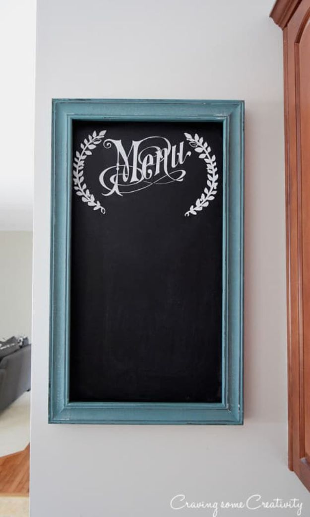 Organizing Ideas for Your Life - Paint A Menu Chalkboard For The Kitchen Wall - Easy Crafts and Cool Ideas for Getting Organized - Best Ways to Get Organized - Things to Make for Being More Efficient and Productive - DIY Storage, Shelving, Calendars, Planning #organizing