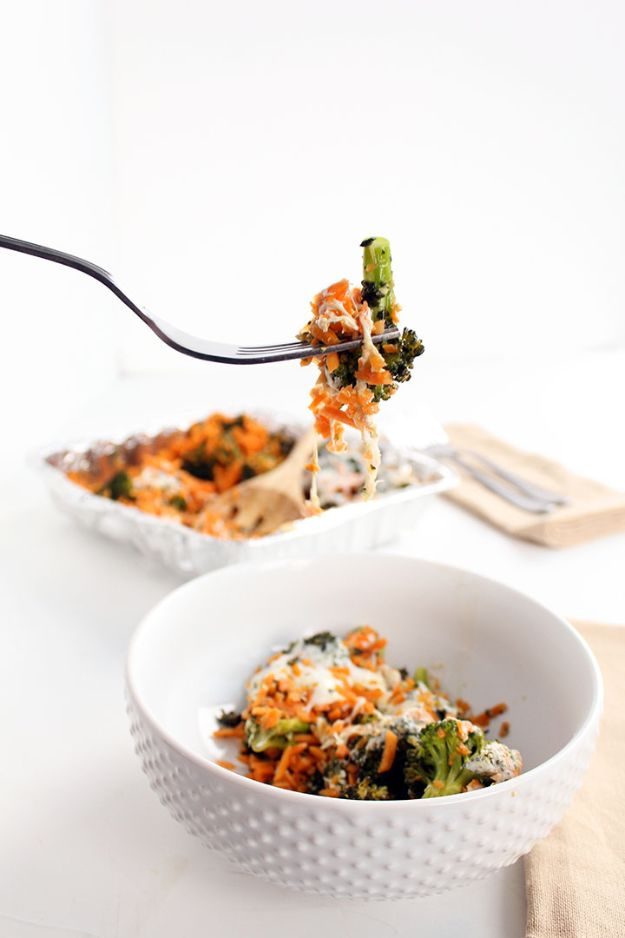 Best Casserole Recipes - Pesto Broccoli Sweet Potato Rice Casserole - Healthy One Pan Meals Made With Chicken, Hamburger, Potato, Pasta Noodles and Vegetable - Quick Casseroles Kids Like - Breakfast, Lunch and Dinner Options - Mexican, Italian and Homestyle Favorites - Party Foods for A Crowd and Potluck Dishes #recipes #casseroles