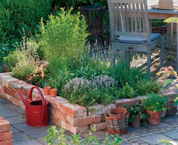 DIY Ideas With Bricks - Raised Garden Bed - Home Decor and Creative Do It Yourself Projects to Make With Bricks - Ideas for Patio, Walkway, Fireplace, Firepit, Mantle, Grill and Art - Inexpensive Decoration Tutorials With Step By Step Instruction for Brick DIY #diy #homeimprovement