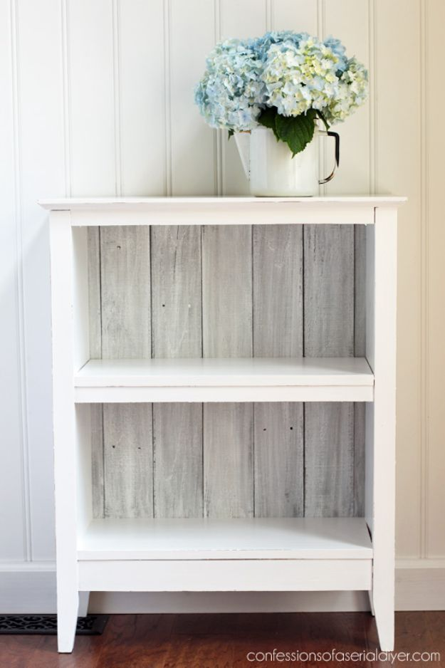 Thrift Store DIY Makeovers - Reclaimed Wood Bookcase - Decor and Furniture With Upcycling Projects and Tutorials - Room Decor Ideas on A Budget - Crafts and Decor to Make and Sell - Before and After Photos - Farmhouse, Outdoor, Bedroom, Kitchen, Living Room and Dining Room Furniture http://diyjoy.com/thrift-store-makeovers