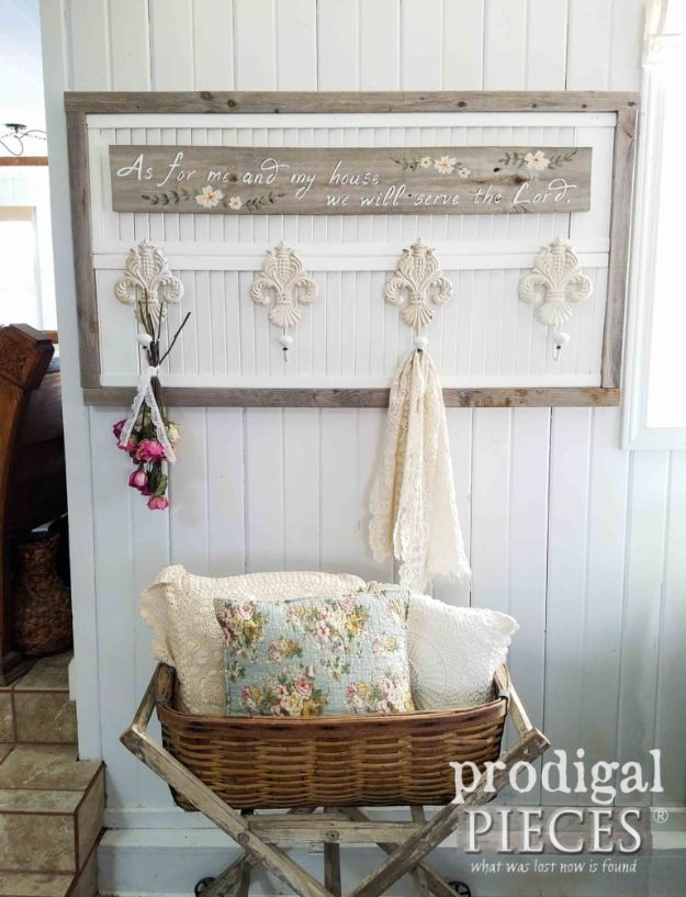 Thrift Store DIY Makeovers - Repurposed Louver Door Wall Art - Decor and Furniture With Upcycling Projects and Tutorials - Room Decor Ideas on A Budget - Crafts and Decor to Make and Sell - Before and After Photos - Farmhouse, Outdoor, Bedroom, Kitchen, Living Room and Dining Room Furniture http://diyjoy.com/thrift-store-makeovers
