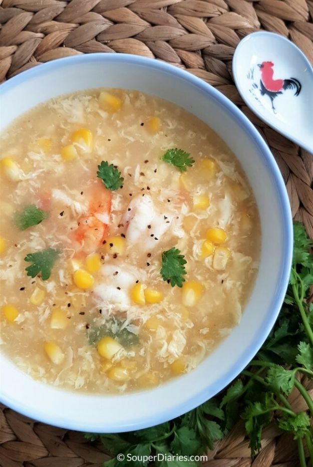 Soup Recipes - Shrimp Egg Drop Soup - Healthy Soups and Recipe Ideas - Easy Slow Cooker Dishes, Soup Recipe for Chicken, Sausage, With Ground Beef, Potato, Vegetarian, Mexican and Asian Varieties - Creamy Soups for Winter and Fall - Low Carb and Keto Meals - Quick Bean Soup and Copycat Recipes #soup #recipes